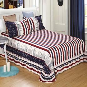 贴身保暖斜纹棉磨毛双人床裙2.7米限时抢购