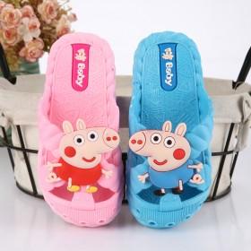 小猪佩琪儿童拖鞋男童女童夏季室内防滑软底包脚浴室宝