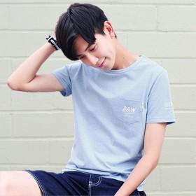 精品男装夏装新品男式短袖t恤学生圆领印花半袖体恤休