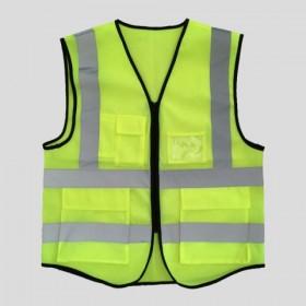 反光背心多口袋印字安全马甲交通环卫施工骑行警示网锐