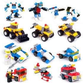 拼装积木玩具益智男童消防车早教幼儿园机器人儿童玩具