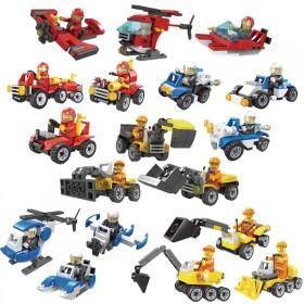 积木玩具益智拼装城市警察消防系列男孩子儿童玩具