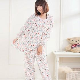 孕妇睡衣夏季装纯棉月子服 哺乳睡衣套装