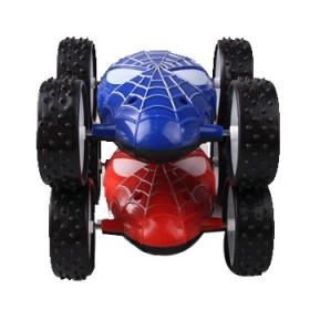 蜘蛛翻斗车360度翻滚特技车惯性双面翻斗车耐摔玩具
