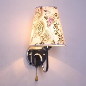 壁灯现代简约LED床头灯卧室灯创意带拉线开关