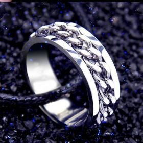 男士戒指可转动指环吊坠潮男不褪色