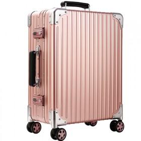 全铝镁合金拉杆箱万向轮复古登机旅行箱包男密码行李箱