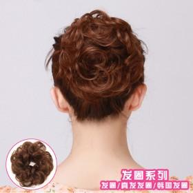 假发发包女拉绳扣式皮筋韩国发圈假头花短卷发苞头饰