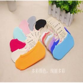 糖果色魔术袜纯色浅口隐形天鹅绒防滑袜硅胶丝袜