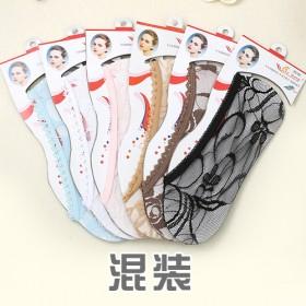 全蕾丝春夏季女士船袜 浅口隐形袜 防滑硅胶透气
