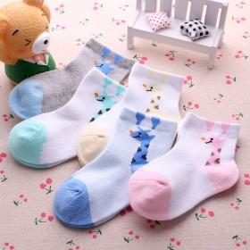 5双儿童薄棉夏季网眼袜空调袜1-12岁