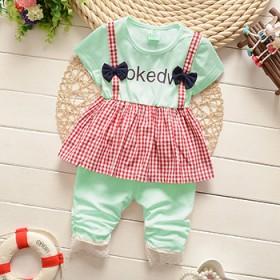 套装儿童小童T恤短裤夏天婴幼儿1-3岁衣服女宝宝夏
