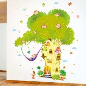 卡通幼儿园墙贴画身高贴 学校教室墙面布置儿童房间可