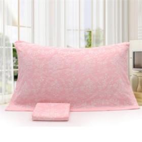 清凝家纺纯棉加大纱布枕巾提花工艺吸湿透气一条包邮
