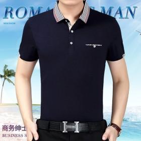 【超好品质新品亏本】中年男士休闲短袖T恤衫男装