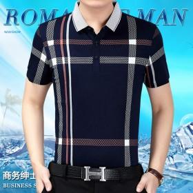 【新品亏本赚好评】正品中年休闲男装短袖T恤衫打底衫