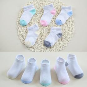 五双装夏季儿童网眼袜