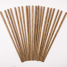 鸡翅木筷子家用日式红木实木无漆环保十双套装