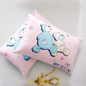 情侣卡通成人纯棉枕套一对 48x74cm