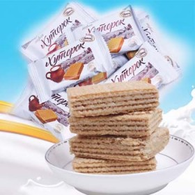 俄罗斯进口小农庄鲜奶罐威化芝士饼干