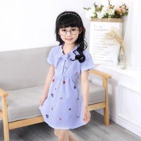女童连衣裙子2017新款韩版夏季短袖季女孩小儿童装