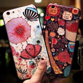 iphone6苹果6手机壳挂绳女款6splus软硅