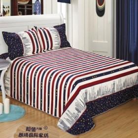 贴身保暖斜纹棉磨毛双人2.5米床单限时抢购