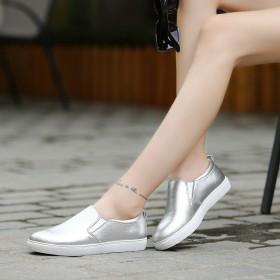 【牛皮只亏一次】真皮韩版乐福鞋休闲平底女单鞋小白鞋