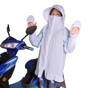 电动车防晒衣纯棉透气吸汗防晒防紫外线