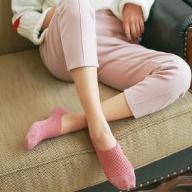 春夏隐形袜女日系纯色船袜硅胶防掉跟短袜女3双装