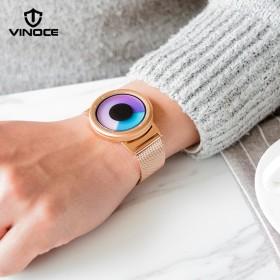 新款时尚防水夜光手表女新概念石英男士手表