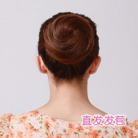 假发女时尚发包盘头头花拉绳扣式发包微卷发圈直发花苞