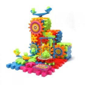 百变电动积木玩具拼装81块齿轮积木