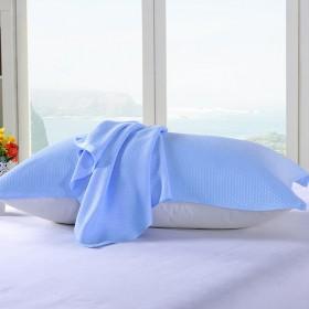 清凉竹纤维枕巾一对装纱布薄款成人枕巾