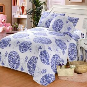 纯棉老粗布床单单件春夏季加厚整幅帆布床单学生单双人
