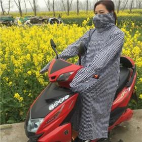 电动车反穿防晒衣纯棉加长款骑车防走光裙防紫外线披肩
