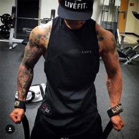 肌肉兄弟男士健身t恤短袖拼接透气