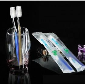 酒店宾馆软毛牙刷 牙膏套装
