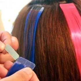 纳米彩色假发女一片式隐形彩发片无痕挑染渐变色真发