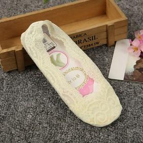 6双装 袜女硅胶防滑蕾丝隐形船袜袜子