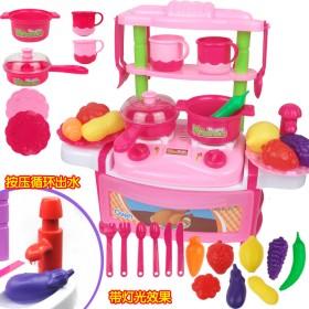 过家家厨房玩具带灯光音效可出水