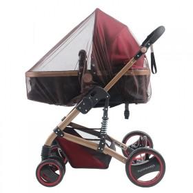 推车蚊帐婴儿车全罩式通用网纱宝宝蚊帐罩新生儿折叠伞