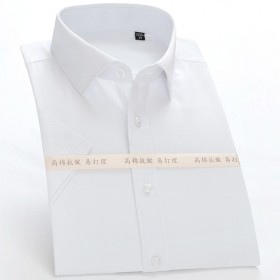免烫修身衬衣短袖衬衫男工装薄上衣