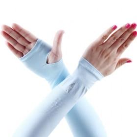 夏季冰袖冰丝防晒袖套手套防紫外线户外骑行开车手臂套