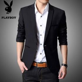 春季新款男士休闲西服青年韩版修身英伦潮流小西装学生