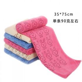 超细纤维毛巾儿童卡通印花毛巾柔软吸水毛巾