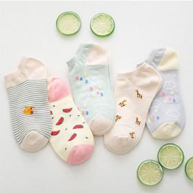 袜子女夏季短袜浅口短筒运动百搭棉袜学院风韩国船袜薄