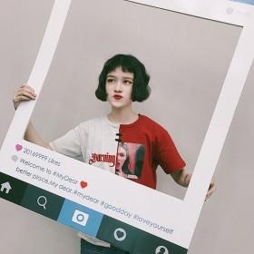 原宿趣味创意印花短袖T恤韩版少女学生宽松显瘦打底衫