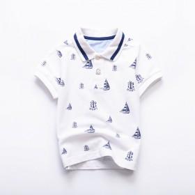 中大童男童短袖t恤保罗衫polo衫上衣夏装
