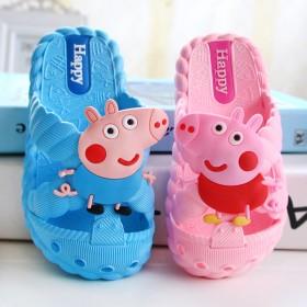 儿童拖鞋包头软底中小童粉红小猪佩奇卡通女童宝宝鞋